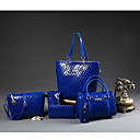 cheap Bag Sets-Women's Bags PU Shoulder Bag 5 Pieces Purse Set for Casual Outdoor Blue Black