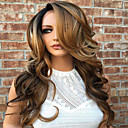 cheap Human Hair Wigs-Human Hair Glueless Lace Front Lace Front Wig Body Wave Wig 130% Hair Density Ombre Hair Natural Hairline African American Wig Women's Short Medium Length Long Human Hair Lace Wig / 100% Hand Tied