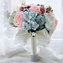 preiswerte Hochzeitsblumen-Hochzeitsblumen Sträuße Hochzeit Perlen Spitze Seide Organza Satin 26 cm ca.