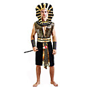 cheap Historical & Vintage Costumes-Roman Costumes Egyptian Costume Pharaoh Cosplay Costume Masquerade Party Costume Men's Festival / Holiday Halloween Costumes Black Other
