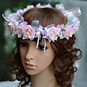 cheap Party Headpieces-Gemstone & Crystal Tulle Cotton Headbands Flowers Headpiece with Crystal Feather 1 Wedding Special Occasion Event/Party Party / Evening