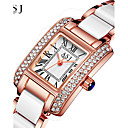 cheap Cellphone Case-ASJ Women's Luxury Watches Wrist Watch Diamond Watch Japanese Quartz Ceramic Silver / Rose Gold 30 m Water Resistant / Waterproof Creative Analog Ladies Sparkle - Silver Rose Gold One Year Battery