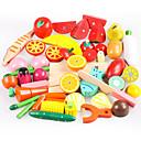 Недорогие Игрушечная еда и всё для кухни-Игрушечная еда Ролевые игры Овощи Фрукт Овощи и фрукты Магнитный моделирование деревянный Дерево Игрушки Подарок
