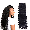 cheap Hair Braids-14inch 3 piece a lot 1b deep twist jumbo hair extensions kanekalon hair braids 5 6pack for a head
