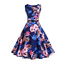 cheap Girls' Dresses-Women's Going out Vintage Cotton A Line Dress - Floral Print