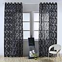 baratos Cortinas Transparentes-Sheer Curtains Shades Quarto Floral Gravado