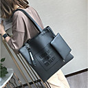 cheap Shoulder Bags-Women's Bags PU Tote for Casual Outdoor All Seasons Green Black Gray