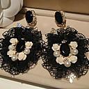 olcso Divat fülbevalók-Női Szintetikus gyémánt - Gyöngyutánzat, Csipke Vintage, Kézzel Készített Fekete Kompatibilitás Esküvő Parti Különleges alkalom / Születésnap