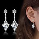 cheap Earrings-Women's AAA Cubic Zirconia Drop Earrings - Cubic Zirconia, Silver Vintage, Fashion, Elegant Silver For Wedding / Engagement / Daily
