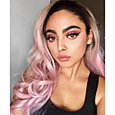 cheap Synthetic Capless Wigs-Synthetic Lace Front Wig Women's Natural Wave Pink Synthetic Hair Pink Wig Long Lace Front Pink Uniwigs