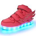 baratos Sapatos de Menina-Para Meninas Sapatos Courino Outono / Inverno Conforto / Tênis com LED Tênis Caminhada LED para Verde / Azul / Rosa claro