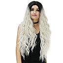 cheap Synthetic Capless Wigs-Synthetic Wig Loose Wave Synthetic Hair Ombre Hair Blue / Blonde / Pink Wig Women's Long Capless