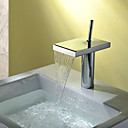 cheap Kitchen Faucets-Bathroom Sink Faucet - Waterfall Chrome Centerset Single Handle One Hole