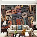baratos Decoração para Cerimônias-Mural Tela de pintura Revestimento de paredes - adesivo necessário Madeira / Carta e Número