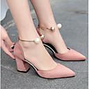 baratos Sapatos de Salto-Mulheres Sapatos Couro / Couro Ecológico Verão Plataforma Básica Saltos Pérolas Bege / Rosa claro / Vinho
