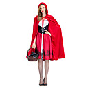 cheap Halloween & Carnival Costumes-Little Red Riding Hood Cosplay Costume Masquerade Girls' Adults' Christmas Halloween Carnival Festival / Holiday Outfits Red Other Vintage