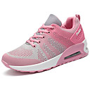cheap Women's Heels-Women's Shoes Tulle Spring / Fall Comfort / Light Soles Sneakers Flat Heel Round Toe Lace-up Fuchsia / Green / Pink