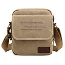 cheap Totes-Men's Bags Canvas Crossbody Bag for Casual Gray / Coffee / Brown