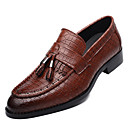 cheap Men's Slip-ons & Loafers-Men's Novelty Shoes Microfiber Spring / Fall Casual Loafers & Slip-Ons Black / Yellow / Red / Tassel / Party & Evening / Tassel / Party & Evening / Outdoor