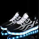 cheap Men's Sneakers-Men's Light Up Shoes PU(Polyurethane) Spring / Fall Athletic Shoes Walking Shoes Black / White / Black / Blue / Lace-up / Light Soles / EU40