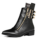 preiswerte Damen Stiefel-Damen Schuhe PU Herbst Winter Komfort Stiefel Für Normal Schwarz