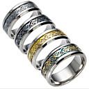 povoljno Muško prstenje-Muškarci Kubični Zirconia Prstenje za parove - Titanium Steel Moda 6 / 7 / 8 Crn / Pink / Dark Blue Za Dnevno
