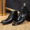 cheap Men's Boots-Men's Formal Shoes Nappa Leather Fall / Winter Vintage Boots Booties / Ankle Boots Black / Party & Evening