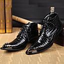 baratos Oxfords Masculinos-Homens Sapatos formais Pele Napa Outono / Inverno Vintage Botas Botas Curtas / Ankle Preto / Festas & Noite