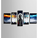 baratos Impressões-Tela de impressão 5 Painéis Tela de pintura Vertical Estampado Decoração de Parede Decoração para casa