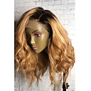 cheap Human Hair Wigs-Human Hair Glueless Full Lace Full Lace Wig Brazilian Hair Natural Wave Wig 130% Density with Baby Hair Ombre Hair Natural Hairline African American Wig 100% Hand Tied Women's Short Medium Length Long