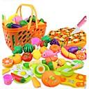 Недорогие Игрушечная еда и всё для кухни-Игрушка кухонные наборы Игрушечная еда Ролевые игры Овощи Фрукт Овощи и фрукты моделирование Пластик Детские Девочки Игрушки Подарок