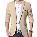 cheap Men's Necklaces-Men's Plus Size Slim Blazer - Solid Colored