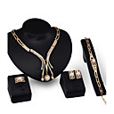 cheap Jewelry Sets-Women's Jewelry Set - Imitation Pearl, Gold Plated Personalized, Fashion Include Pendant Necklace Gold For Party / Evening Party