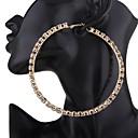 cheap Men's Bracelets-Women's Tassel Hoop Earrings - Punk Gold / White / Black For Wedding / Party / Daily