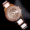 cheap Bag Sets-Women's Bracelet Watch Wrist Watch Quartz Creative Stainless Steel Band Analog Charm Luxury Sparkle Rose Gold - Rose Gold
