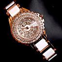 preiswerte Mikroskope & Endoskope-Damen Armband-Uhr Armbanduhr Quartz Kreativ Edelstahl Band Analog Charme Luxus Glanz Rotgold - Rotgold
