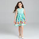 cheap Girls' Clothing Sets-Girl's Floral Dress, Polyester Summer Sleeveless Floral Light Blue