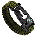 cheap Hunting Protective Gear-Whistle / Fire Starter / Paracord Bracelet - Compass, Fire Starter, Whistle Adjustable, Tactical, Emergency for Camping / Hiking / Hunting / Fishing - Nylon
