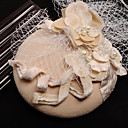 cheap Pins and Brooches-Tulle / Flannelette / Fabric Fascinators with 1 Wedding / Special Occasion / Birthday Headpiece