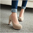 abordables Tacones de Mujer-Mujer Zapatos PU Verano Confort Tacones Beige / Rojo / Verde