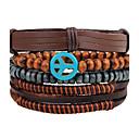 cheap Men's Bracelets-Men's Strand Bracelet Wrap Bracelet Leather Bracelet - Leather Personalized, Vintage Bracelet Brown For Daily Casual Street