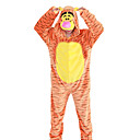 cheap Kigurumi Pajamas-Adults' Kigurumi Pajamas Tiger Onesie Pajamas Flannel Fabric Cosplay For Men and Women Animal Sleepwear Cartoon Halloween Festival / Holiday / Stripe