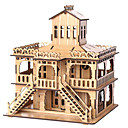 cheap Wooden Puzzles-3D Puzzle Jigsaw Puzzle Famous buildings House Wooden Natural Wood Unisex Gift