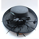 preiswerte Parykopfbedeckungen-Tüll Chiffon Spitze Feder Stoff Seide Titan Netz Fascinatoren Hüte 1 Hochzeit Besondere Anlässe Geburtstag Party / Abend Kopfschmuck