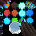 cheap Rhinestone & Decorations-1set / 12pcs Acrylic Powder Glitter Powder 12 Colors nail art Manicure Pedicure Elegant & Luxurious / Sparkle & Shine / Fluorescent