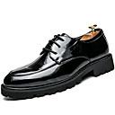abordables Oxfords para Hombre-Hombre Zapatos formales Cuero Patentado Otoño / Invierno Oxfords Negro / Fiesta y Noche