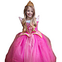 cheap Lip Stain-Princess Cosplay Costume Kid's Christmas Children's Day New Year Festival / Holiday Halloween Costumes Outfits Rose Sparkling Glitter Lace