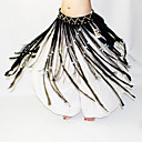 cheap Dance Accessories-Belly Dance Hip Scarves Women's Performance Polyester Beading Pearl Tassel Hip Scarf