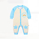 cheap Baby Boys' One-Piece-Baby Boys' Geometic Cotton Overall & Jumpsuit Blue Newborn(59cm)