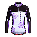 cheap Cycling Pants, Shorts, Tights-WOSAWE Women's Long Sleeve Cycling Jersey - Violet Bike Jersey, Quick Dry Polyester